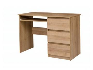 hnedý písací stolík Cosmo C09