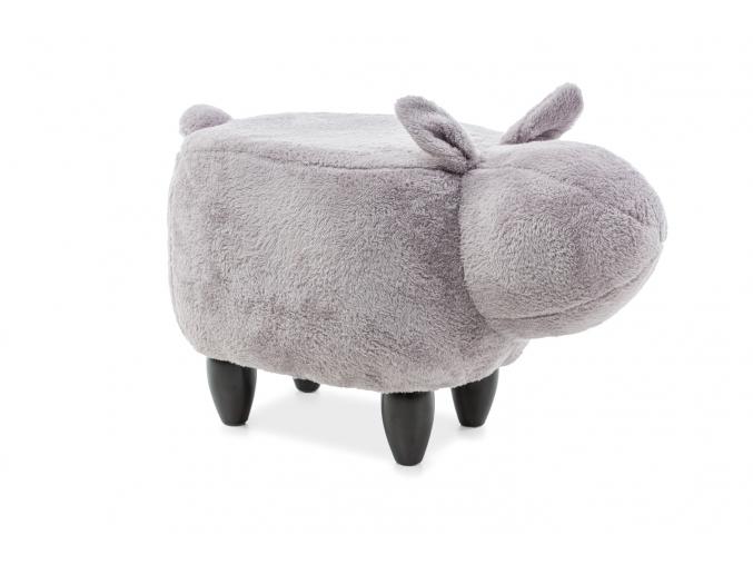 Detská taburetka králik Kamil sivý