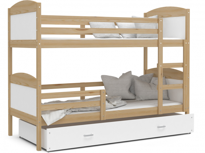 poschodova postel MATEUSZ borovica bieôa