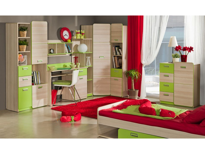 Detská izba Lorento EGO zelená