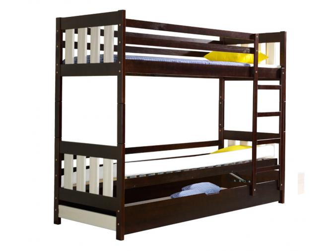 drevena detska poschodova postel KACPER