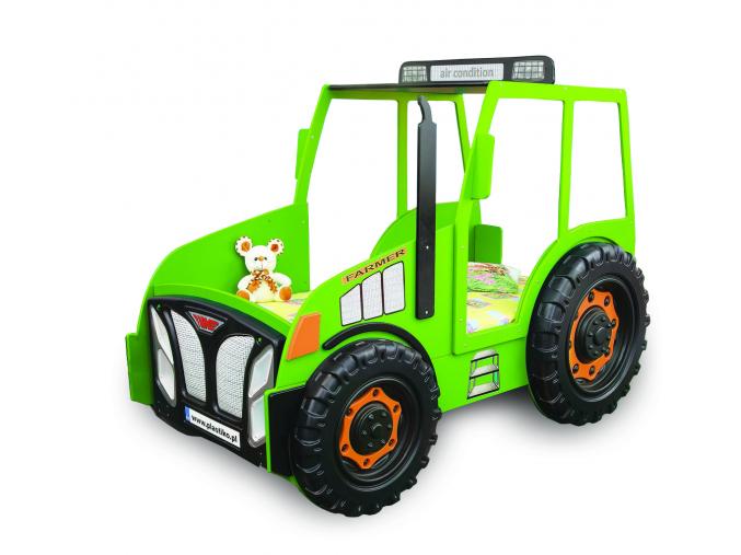 Detská posteľ Traktor zelený