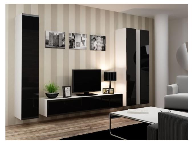 Obývacia stena Vigo I biela čierna