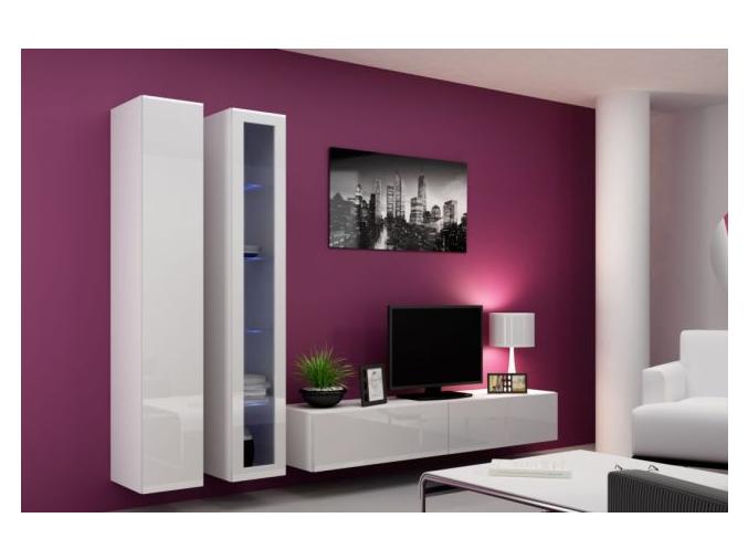Obývacia stena Vigo III biela-biela