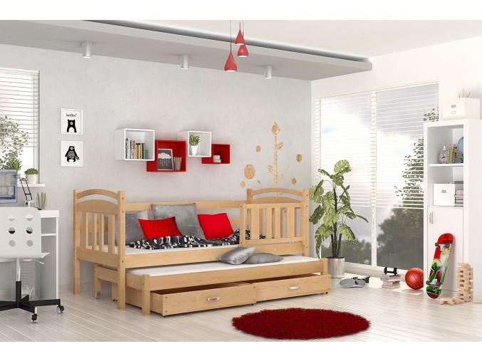 detská posteľ junior borovica
