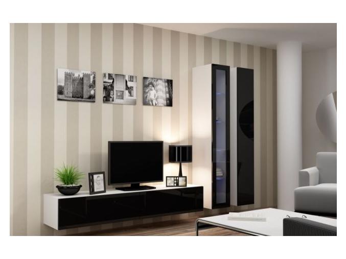 Obývacia stena Vigo III biela-čierna