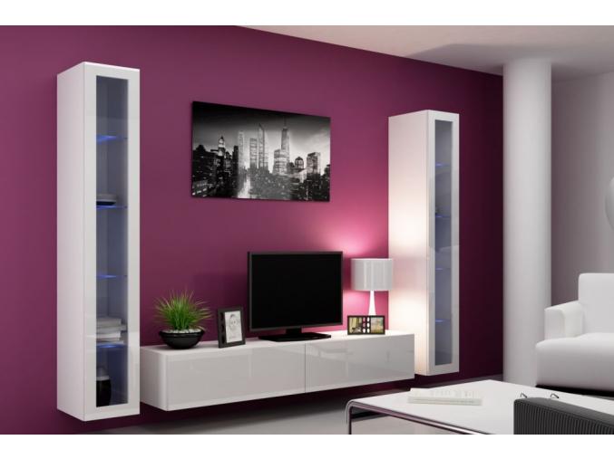 Obývacia stena Vigo V biela-biela