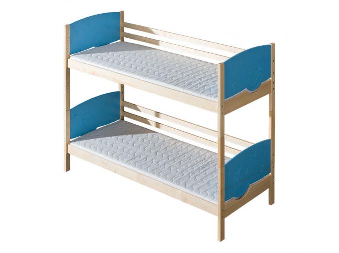 detska poschodova drevena postel TRIO