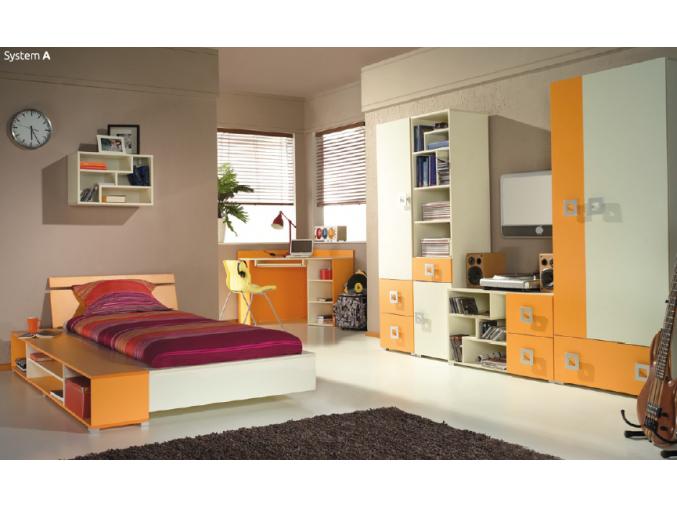 Detská izba Labirynt A | oranžová