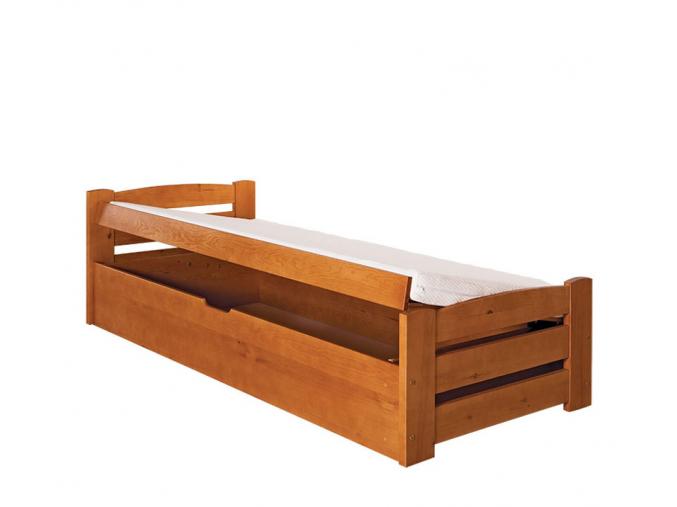 detska drevena jednolozkova postel LOLEK jelsa