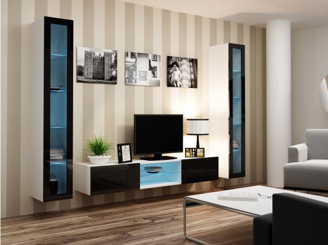 Obývacia stena Vigo 20 biela-čierna