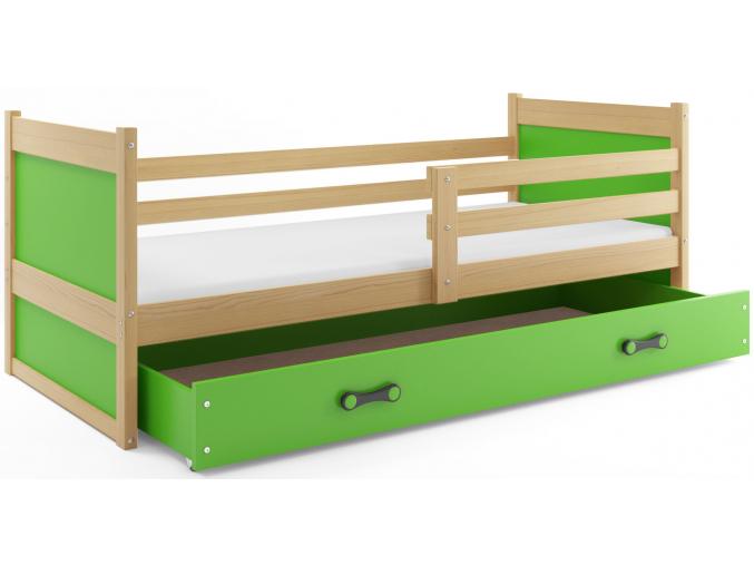 Detská posteľ RICO 1 / BOROVICA 200x90