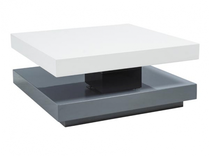 moderny konferencny stolik FALON biela siva