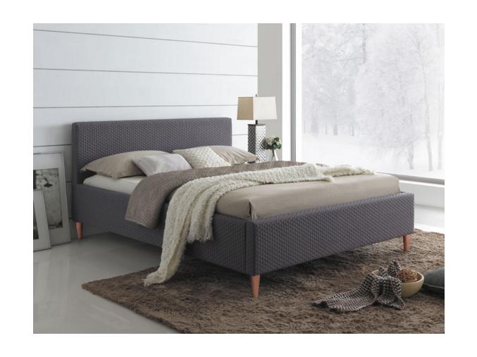 Čalúnená manželská posteľ SEUL