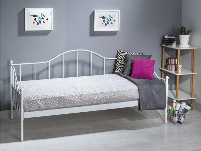 Jednolôžková posteľ DOVER / biela