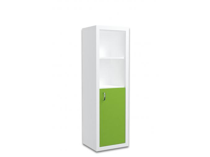 moderny biely detsky regal FILIP COLOR maly zelena