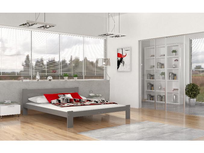 venecia posteľ sivá