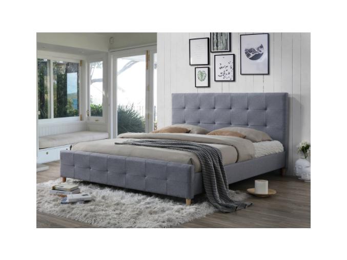 balder sivá manželská posteľ