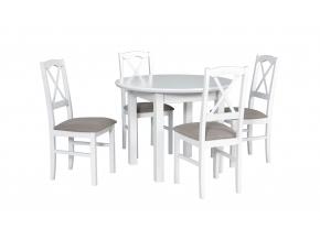 moderny biely jedalensky set POLI 1S NILO 11 1+4