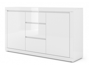 moderna biela leskla komoda COMO BIANCO 3 biely lesk