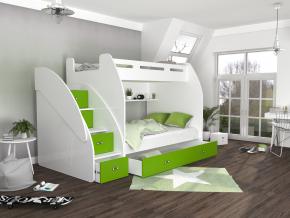 moderna poschodova postel ZUZIA biela modra