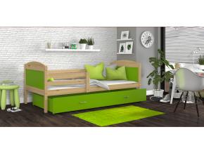 detska jednolozkova postel MATEUSZ P borovica zelena