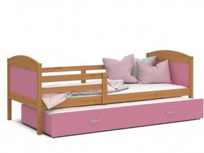 detska postel s pristelkou MATEUSZ jelsa ruzova