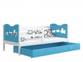 jednolozkova postel MAX P biela modra