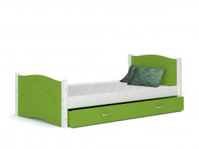 detska postel DAISY bez zasuvky biela zelena