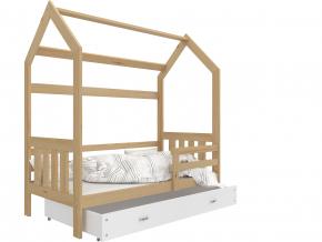 detska postel montessori domcek 2 borovica biela