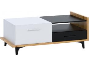 prakticky konferencny stolik BOX 03 2D2S dub artisan biela cierna