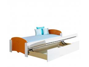 jednolozkova drevena detska postel MALGOSIA
