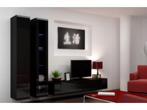 Obývacia stena Vigo III čierna-čierna