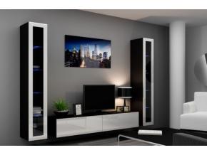 Obývacia stena Vigo V čierna-biela