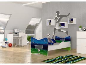 oblubena detska obrazkova postel KEVIN vzor futbal 01 bez zasuvky