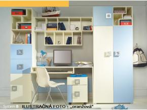 Detská izba Labirynt B | oranžová