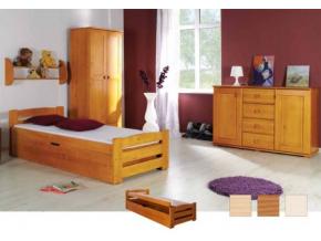 Detská drevená posteľ Lolek