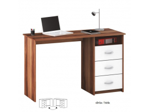PC stôl Laristote slivka/biela