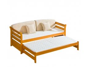 kvalitna drevena postel s pristelkou TYTUS