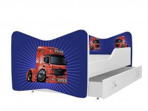 moderna detska obrazkova postel KEVIN vzor kamion 18