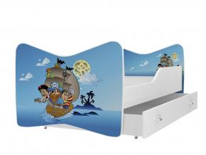 moderna detska obrazkova postel KEVIN vzor pirati 12