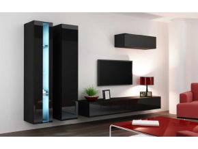 Obývacia stena Vigo I new čierna-čierna