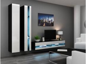 Obývacia stena Vigo V new čierna-biela