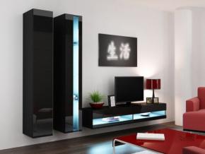 Obývacia stena Vigo V new čierna-čierna