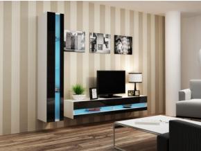 Obývacia stena Vigo VIII new biela-čierna