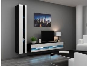 Obývacia stena Vigo VIII new čierna-biela