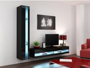 Obývacia stena Vigo VIII new čierna-čierna