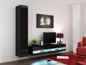 Obývacia stena Vigo IX new čierna-čierna