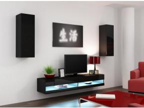 Obývacia stena Vigo X new čierna-čierna