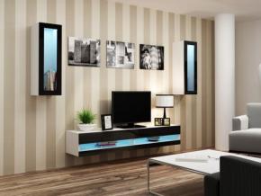 Obývacia stena Vigo XI new biela-čierna